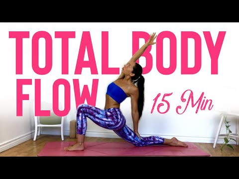 15 Minute Full Body Yoga Flow For Strength And Flexibility