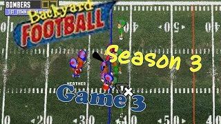 Backyard Football 1999 (PC) (SEASON 3) Game 3: Raining Every Day Keeps the Football Away