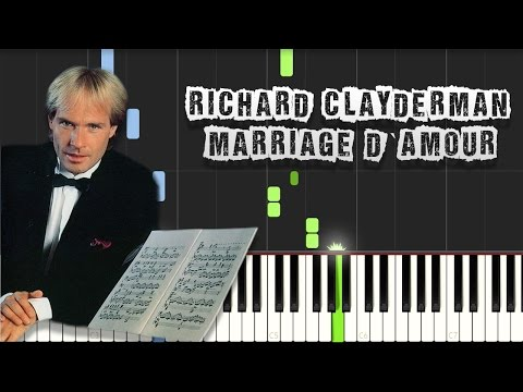 Richard Clayderman - Marriage d amour (Spring Waltz Chopin) Piano Tutorial Synthesia (Download MIDI)