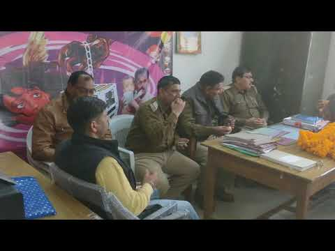 CRIME meeting after breakfast all staff crime branch Allahabad