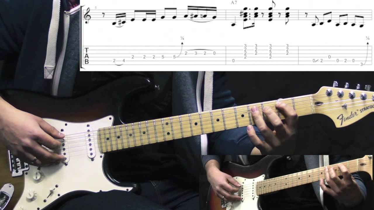 Srv Mary Had A Little Lamb Blues Guitar Lesson With Tabs Youtube
