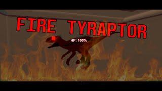 Roblox / Dinosaur Hunter : Fire Ty-raptor