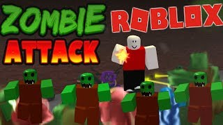 Let's Play Roblox Zombie Attack Level 22 Watch out for Bosses!