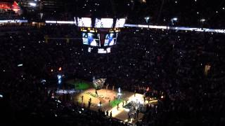 Spurs vs. Heat 2014 NBA Finals Game 5 Pre-game intro and Tip off