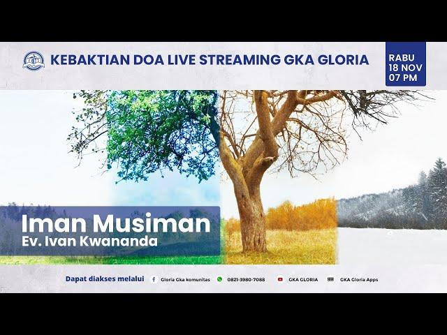 Kebaktian Doa Rabu Live Streaming - Ev. Ivan Kwananda - 18 Nopember 2020