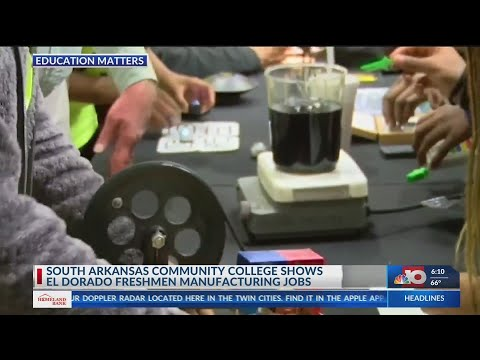 South Arkansas Community College shows EHS freshmen manufacturing jobs