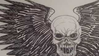How To Draw A Skull With Wings