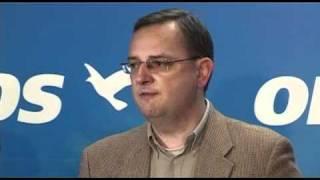 Tisková konference ODS po oznámení průběžných výsledků senátních voleb 2010