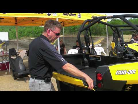 how to change oil on can am maverick