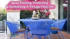 Spray Painting, Protecting & Revitalizing A Vintage Metal Patio Set / Joy Us Garden