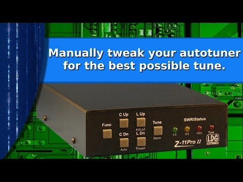 Ham Radio - Manually tweaking your auto tuner for the best possible tune