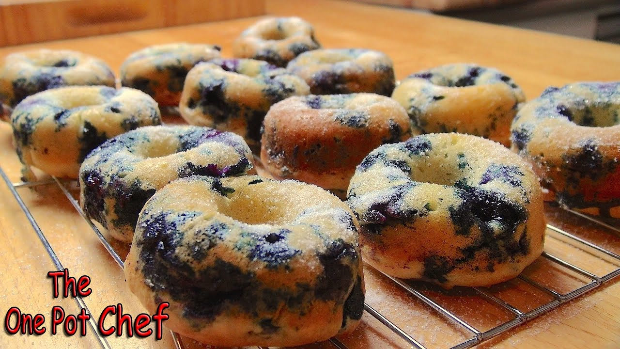 Oven Baked Blueberry Donuts | One Pot Chef - YouTube
