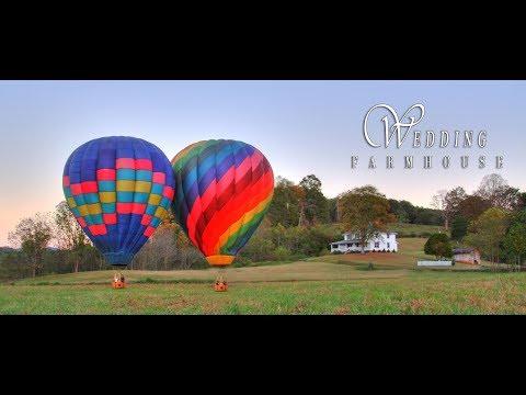 WEDDING FARMHOUSE - Hot Air Balloon - NC Mountains Wedding Destination - Franklin - Highlands NC