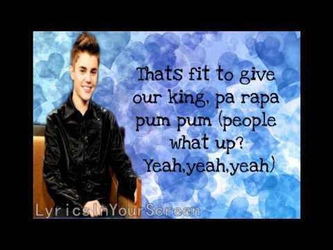 Justin Bieber - Drummer Boy Lyrics ( Ft. Busta Rhymes)