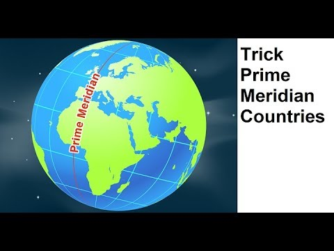 Trick To Remember Countries through which Prime Meridian Passes