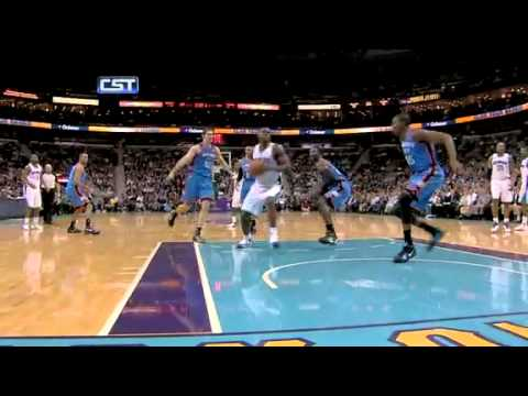 Emeka Okafor dunks on Kevin Durant 1-24-11