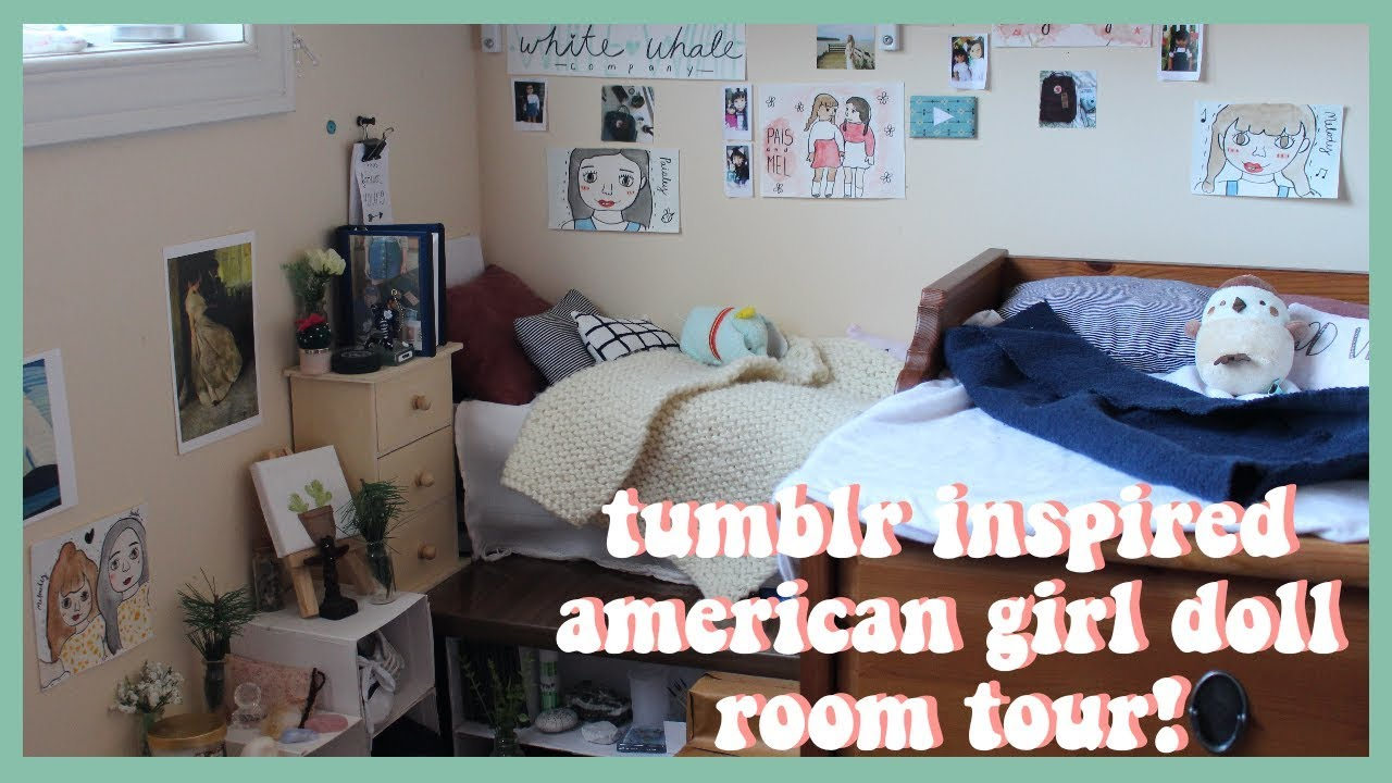 Tumblr Inspired American Girl Doll Room Tour Dollhouse Tour Youtube