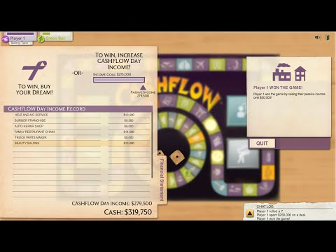 CashFlow 101   The Investing Game Gameplay