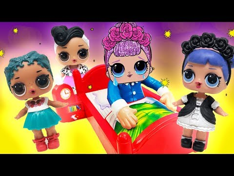 Thumbnail: Don't Wake LOL Doll Sugar Queen Birthday Party Game! Curious QT, MC Swag, Court Champ, Learn Colors!