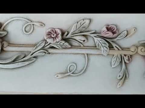 Роспись гипсового багета. Технология
