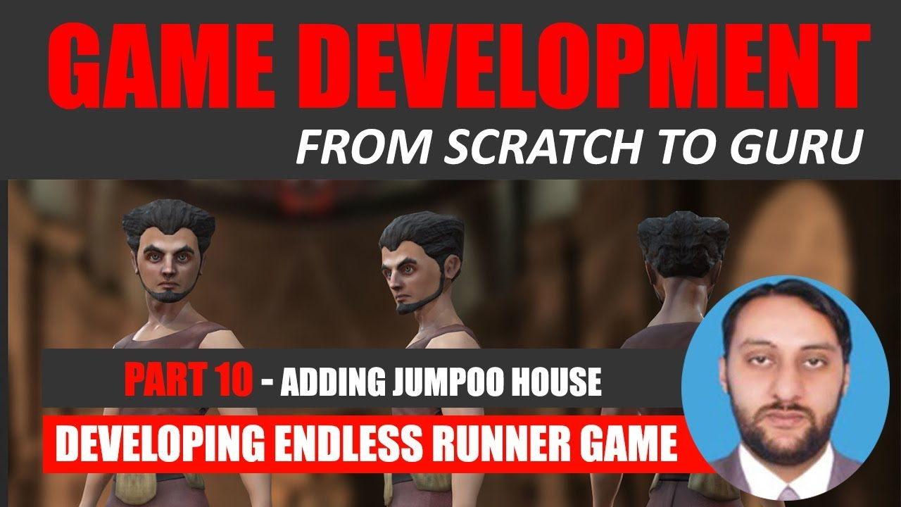 Part 10- Adding Jumpoo House And Other Assets In Game | Game Development From Scratch To Guru