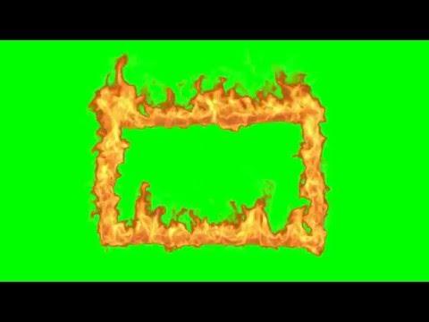 Футаж Рамка огонь хромакей  Fire Frame