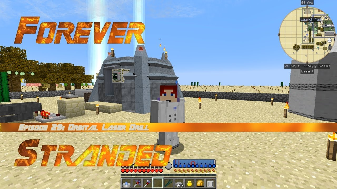 Forever Stranded #29 - Advanced Rocketry Orbital Laser Drill and Biome  Scanner