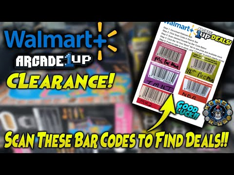 Arcade1up Walmart Clearance Tips - Scan These Bar Codes for Real Time Deals!! from Kongs-R-Us
