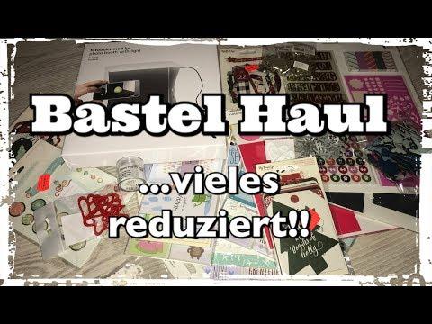 Bastel Haul (deutsch), viele Schnäppchen, Scrapbook basteln mit Papier, DIY