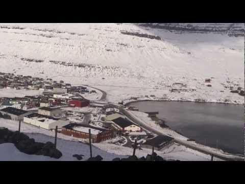 My hometown Klaksvik, Faroe Island in the wonderful snow of March 2013