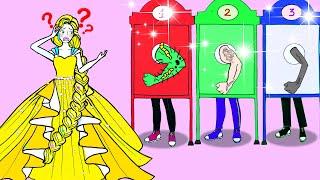 Học Làm Búp Bê Giấy - Rapunzel Chọn Người Yêu Tương Lai - Câu Chuyện Của Barbie