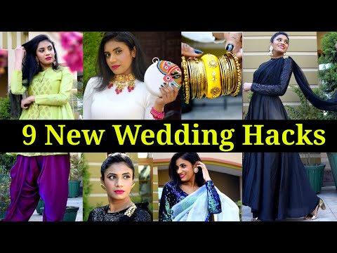9 Life Saving Wedding Hacks You Must Try   Indian Wear Fashion Hacks  #शादी   Restyling Tips Aanchal