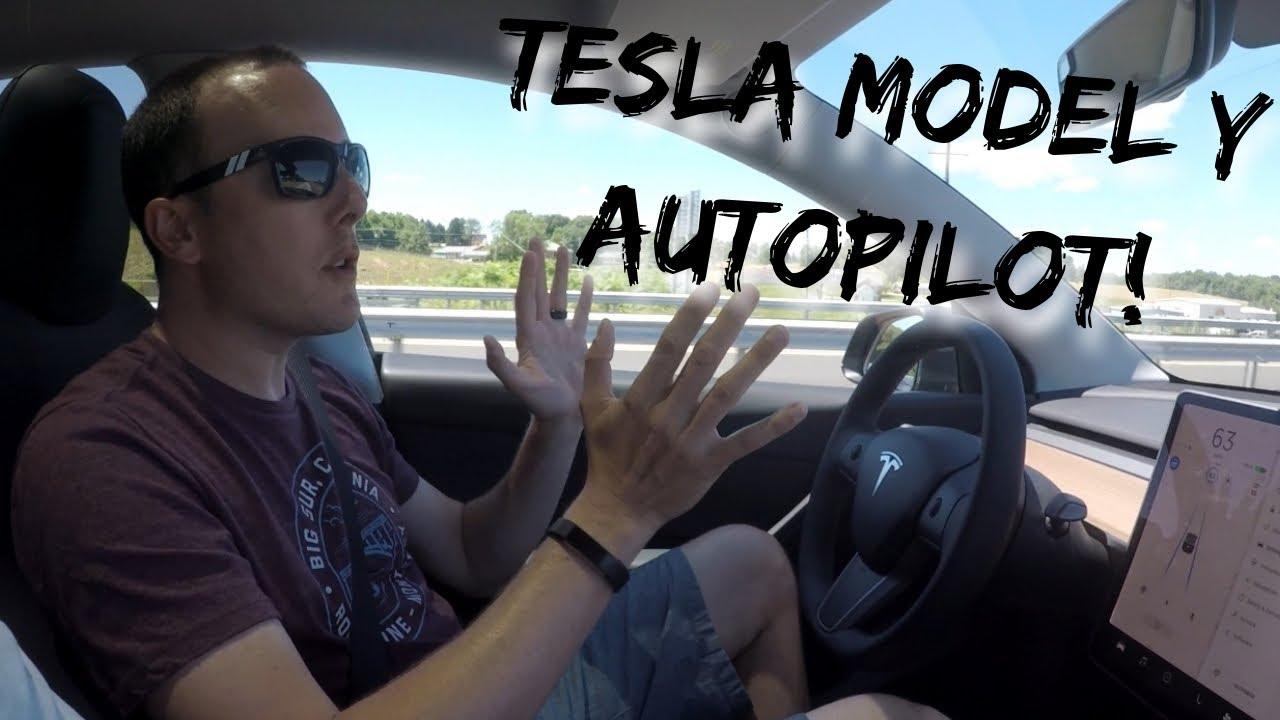 Using Autopilot in a New Tesla Model Y!