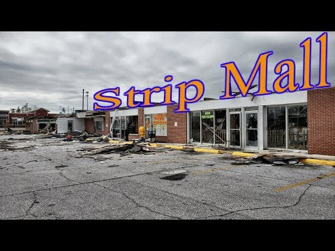 Abandoned Strip Mall - Destroyed By Hurricane