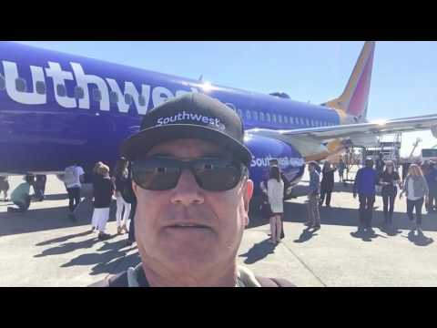 #travelfoodiestv at #SouthWestAir Everett , Wa., terminal for flight party for new #Boeing 737GB jet