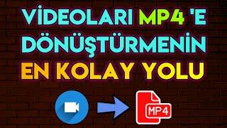 TÜM VİDEO FORMATLARINI MP4 'E ÇEVİRMEK (En kolay ve pratik yöntem) #mp4 #video #app