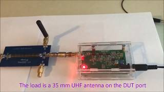 Reflection loss UHF antenna with noise generator, SWR bridge and SDR