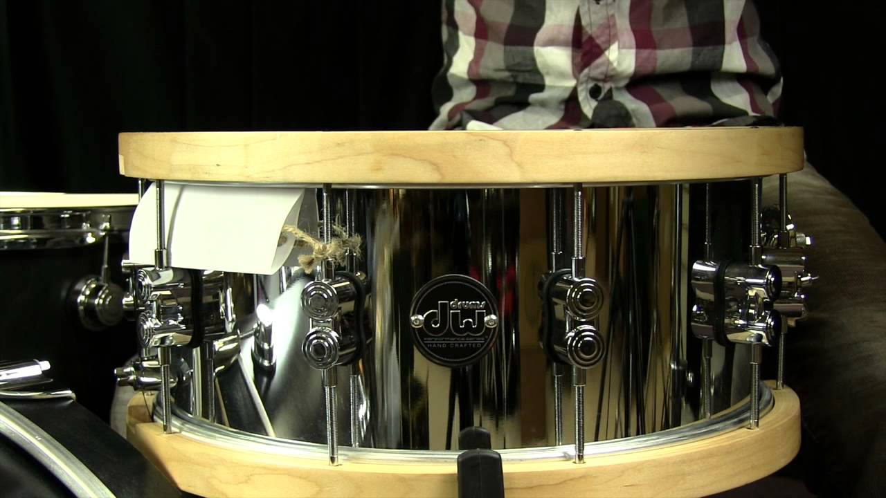 dw steel performance snare with wood hoops 6 5 x14 youtube. Black Bedroom Furniture Sets. Home Design Ideas