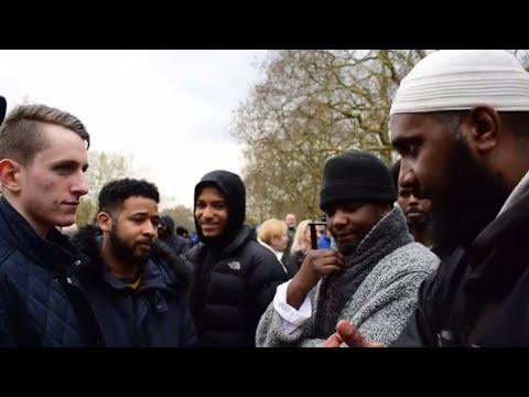Visitor gives Warning! Brothers Vs Visitor with strong views   Speakers Corner   Hyde Park