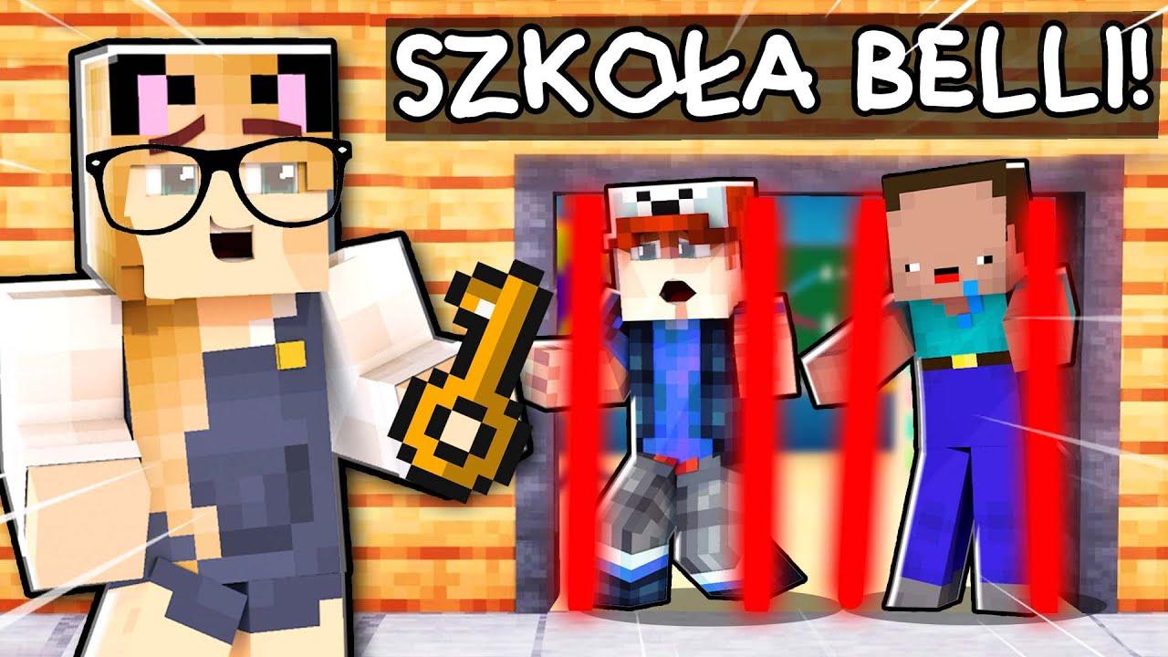 BELLA ZAMKNĘŁA NAS W SZKOLE NA 24 GODZINY w Minecraft! | Vito i Bella