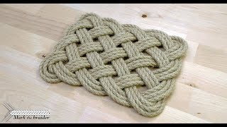 Rectangular rope mat
