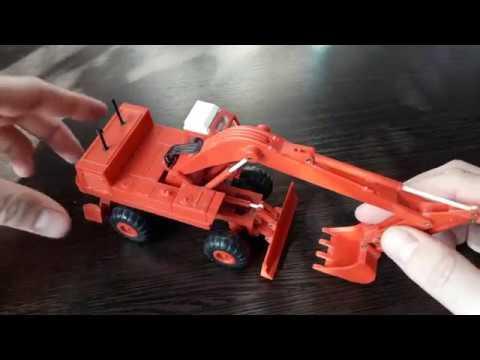 Экскаватор ЭО-4321. 1:43. Сделано в СССР.