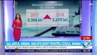 Salariul minim, insuficient pentru cosul minim