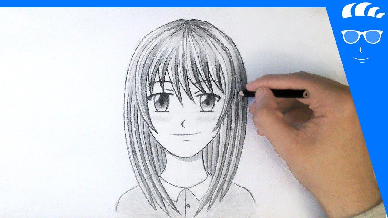 طريقة رسم وجه فتاة انمي مانجا للمبتدئين رسم رأس بنت Youtube