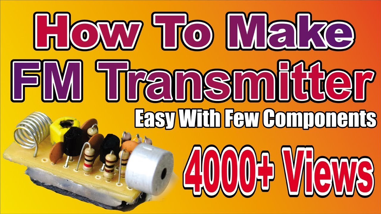 Easy To Make Super Simple Long Range Fm Transmitter Electric Grid How Build Am Electricgrid Gillanidata Weekendprojects