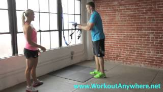 beginner squats assisted suspension trainer trx squats workout anywhere