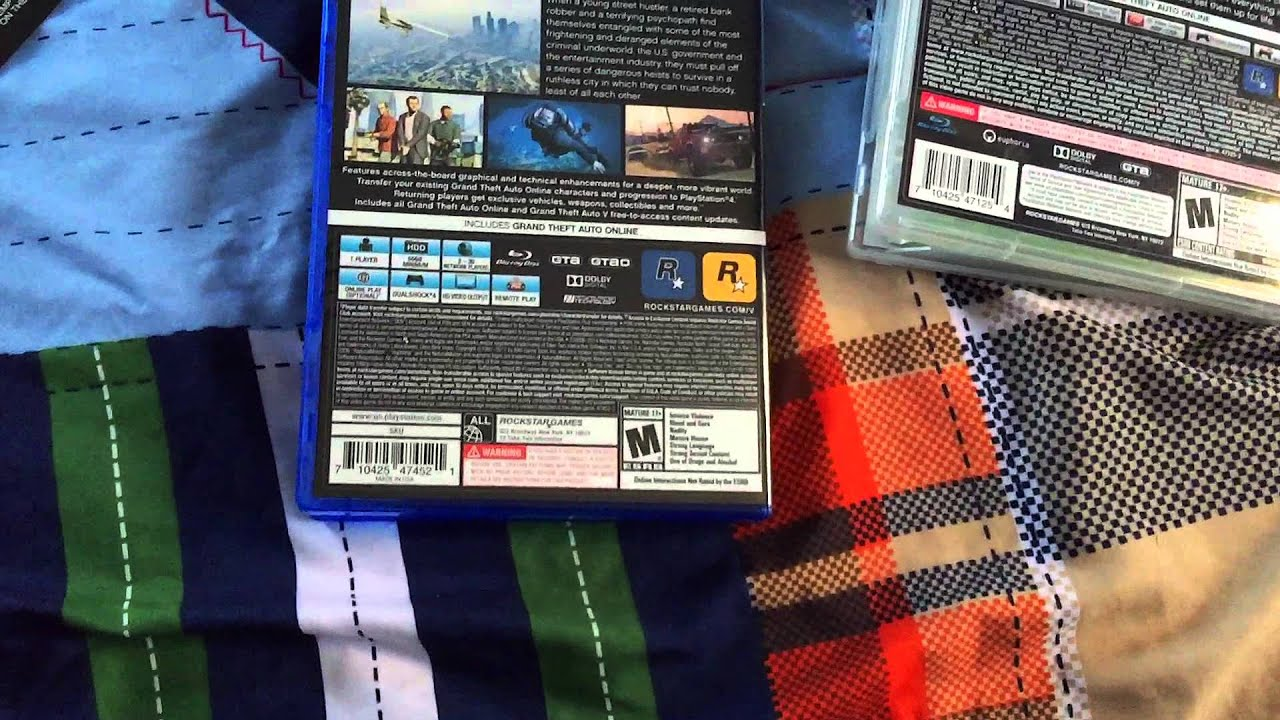 Grand theft auto 5 ps4 unboxing comparing to the gta 5 for 2 box auto indipendenti