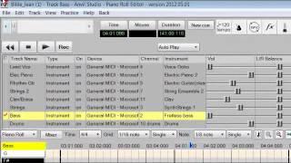 Anvil Studio Tutorial 2 - creating rhythm tracks using free midi files