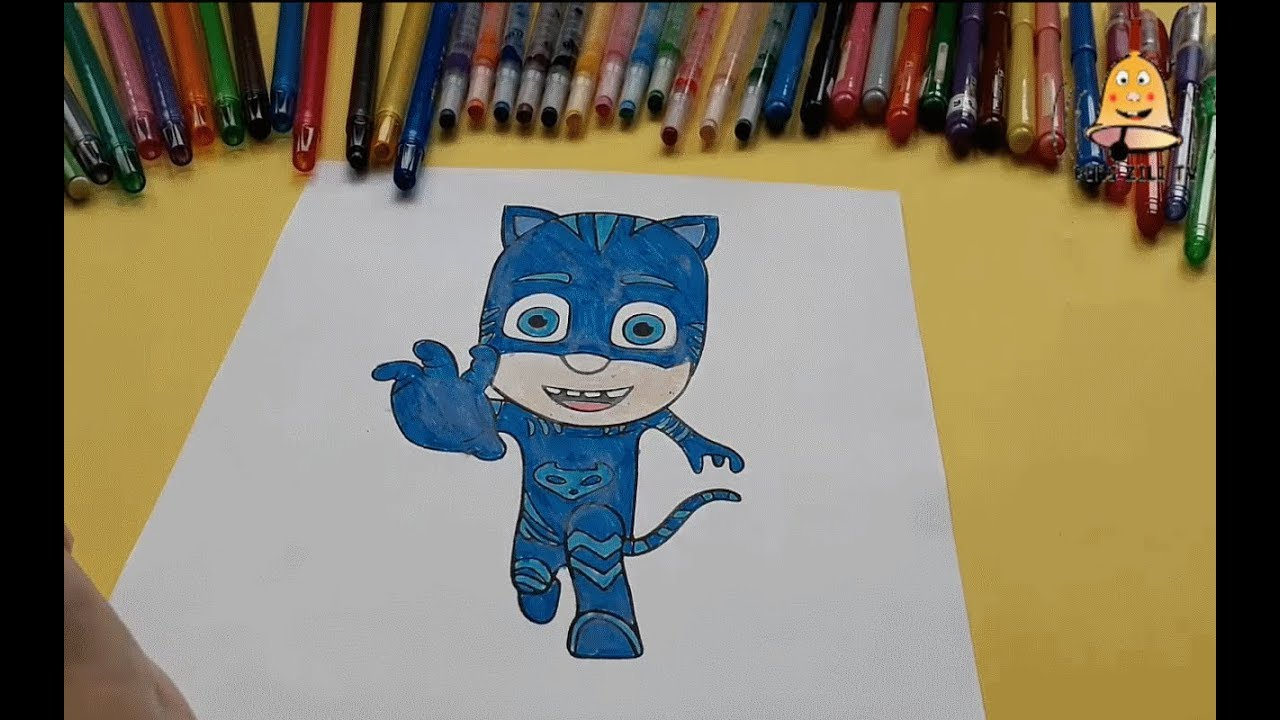 Pijamaskeliler Kedi çocuk Boyama Pjmasks Catboy Coloring Pages