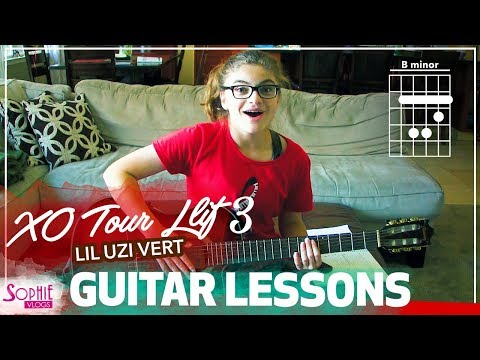 XO Tour Llif3 - Lil Uzi Vert | Easy Guitar Songs For Beginners & Chords (by Sophie Pecora)